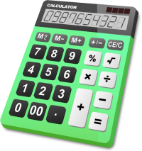 CALCULATOR LIGHT GREEN vector icon