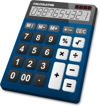 CALCULATOR NAVY BLUE vector icon