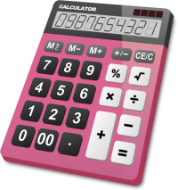 CALCULATOR PINK vector icon