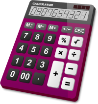 CALCULATOR PURPLE vector icon