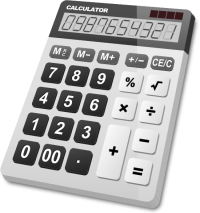 CALCULATOR WHITE vector icon