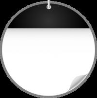 Circle Calendar Date Icon BLACK