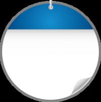 Circle Calendar Date Icon BLUE