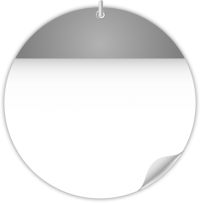 Circle Calendar Date Icon GRAY