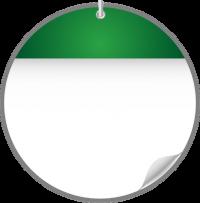 Circle Calendar Date Ico GREEN