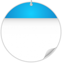 Circle Calendar Date Icon LIGHT BLUE