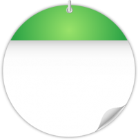 Circle Calendar Date Icon LIGHT GREEN