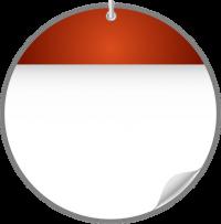 Circle Calendar Date Icon ORANGE