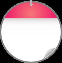 Circle Calendar Date Icon PINK