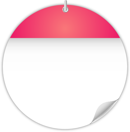 Calendar Date Circled Circle Calendar Date Icon Pink