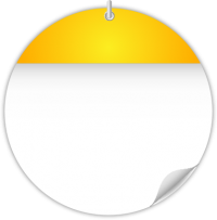 Circle Calendar Date Icon Yellow