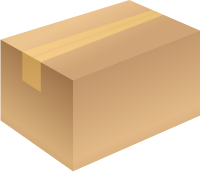 Carton box brown closed free vector data