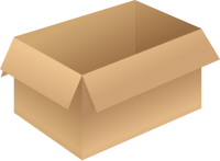 Carton box brown opened free vector data