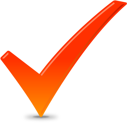 CHECK ICON ORANGE | SVG(VECTOR):Public Domain | ICON PARK ...