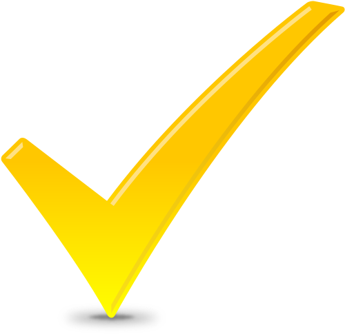 CHECK ICON YELLOW | SVG(VECTOR):Public Domain | ICON PARK ...