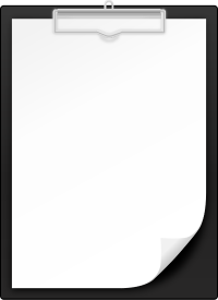 BLACK CLIPBOARD vector icon