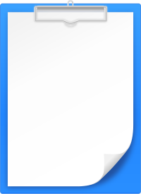 BLUE CLIPBOARD vector icon