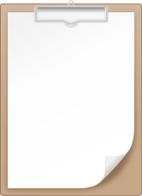 BROWN CLIPBOARD vector icon