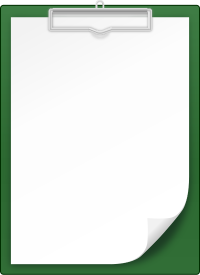 DARK GREEN CLIPBOARD vector icon