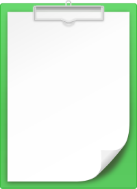 GREEN CLIPBOARD vector icon