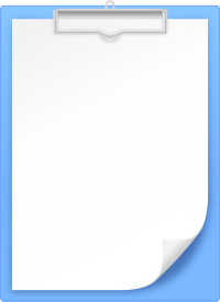 LIGHT BLUE CLIPBOARD vector icon