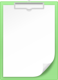 LIGHT GREEN CLIPBOARD vector icon
