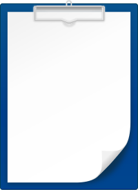 NAVY BLUE CLIPBOARD vector icon