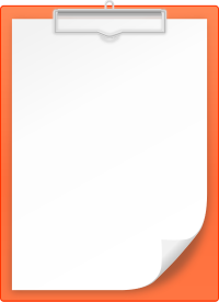 ORANGE CLIPBOARD vector icon