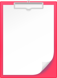 PINK CLIPBOARD vector icon
