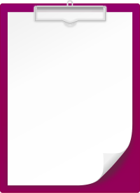 PURPLE CLIPBOARD vector icon