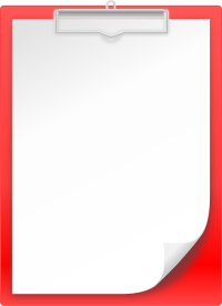 CLIPBOARD RED vector icon
