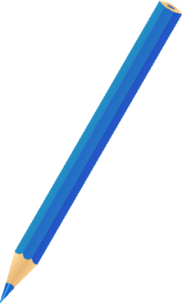 COLOR PENCIL BLUE vector icon