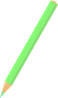 COLOR PENCIL LIGHT GREEN vector icon