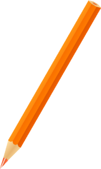 COLOR PENCIL ORANGE vector icon