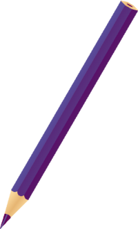 COLOR PENCIL PURPLE vector icon