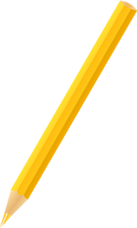 COLOR PENCIL YELLOW vector icon