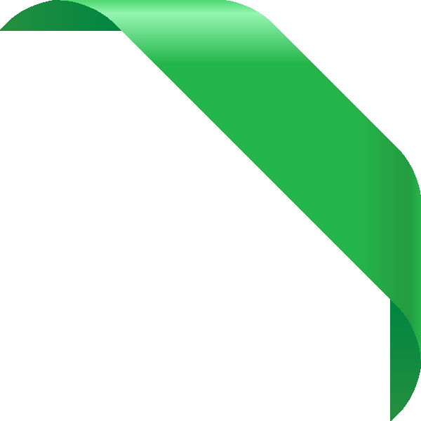 CORNER RIBBON01 GREEN Vector Data | SVG(VECTOR):Public ...