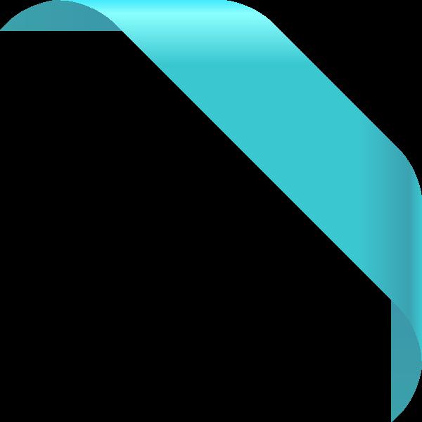 corner_ribbon01_turquoise_blue