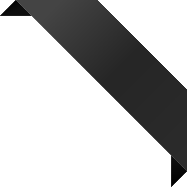 CORNER RIBBON02 BLACK Vector Data | SVG(VECTOR):Public ...
