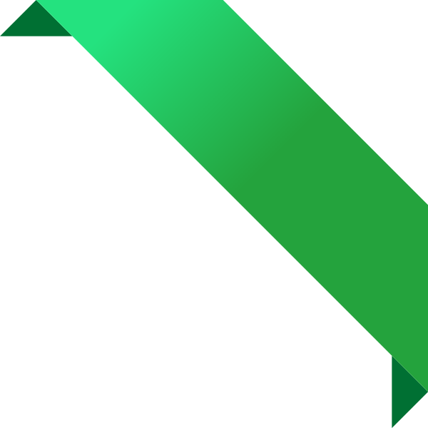 corner_ribbon02_green