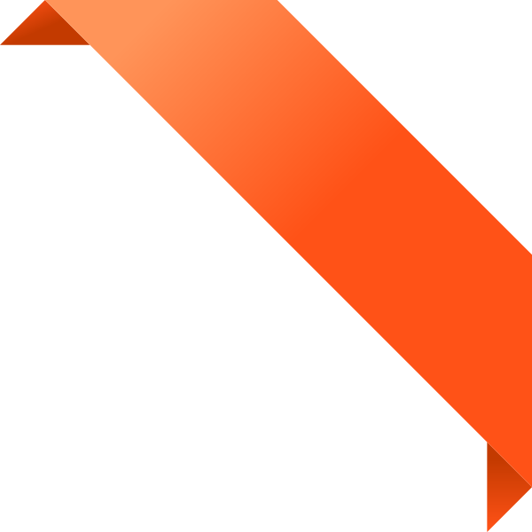 CORNER RIBBON02 ORANGE Vector Data | SVG(VECTOR):Public ...