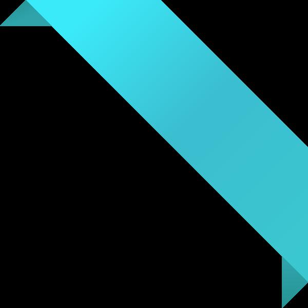 corner_ribbon02_turquoise_blue