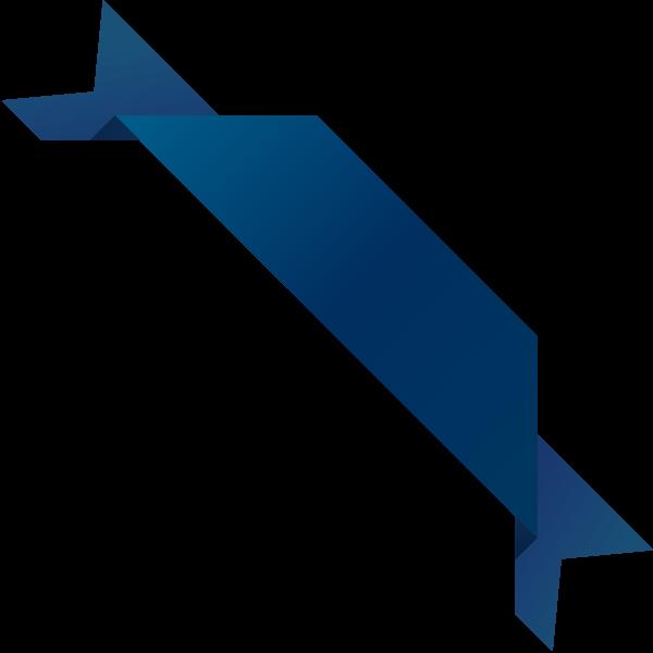 corner_ribbon03_navy_blue