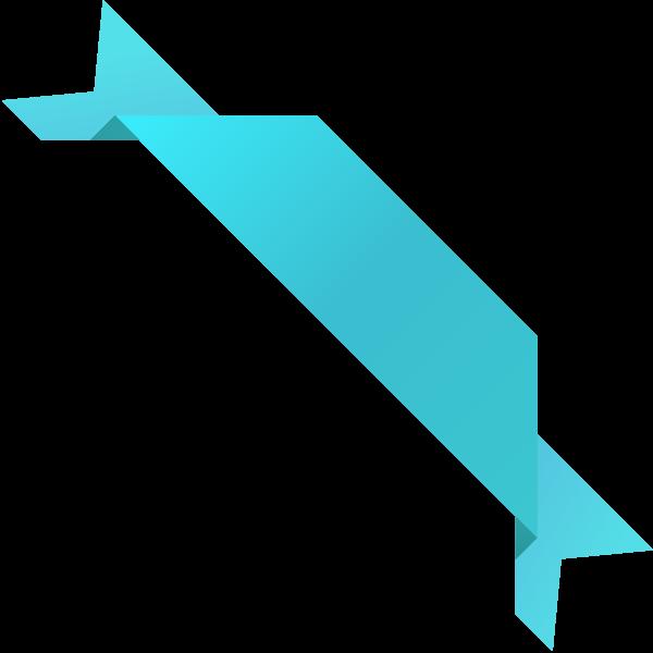 corner_ribbon03_turquoise_blue