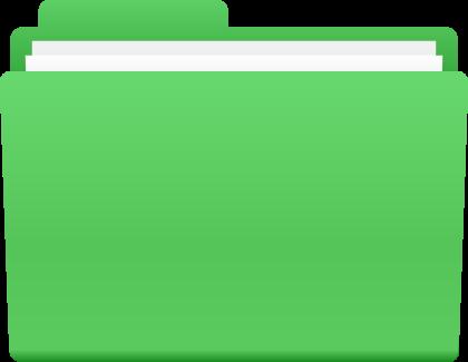 FOLDER ICONGREEN | SVG(VECTOR):Public Domain | ICON PARK ...