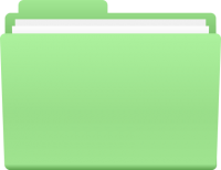 FOLDER ICON LIGHT GREEN