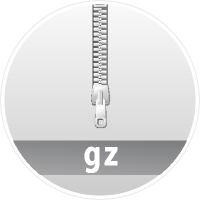 """GZ"" data compression icon Circle"