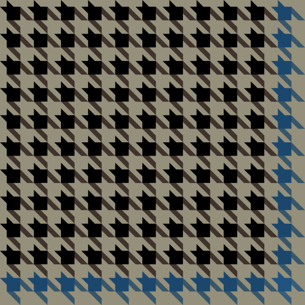 houndstooth_check_black_blue