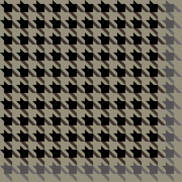 Black and gray Houndstooth check pattern vector data.