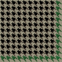 Black and green Houndstooth check pattern vector data.